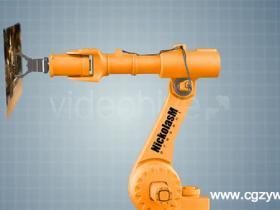 AE模板-机器手臂展示动画Industrial Robot