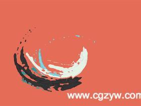 C4D教程制作水彩涂抹笔刷效果 Eyedesyn Cel Shader Paint Logo Reveal