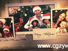 AE模板-圣诞节祝福电子相册展示模板merry-christmas