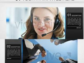 AE模板-蓝色清爽公司企业商务宣传幻灯片展示Clean Slideshow