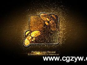 AE模板-绚丽粒子汇聚logo动画模Particle Logo Reveal