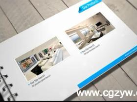 AE模板-清爽干净的企业记事本宣传演示模板Clean Presentation