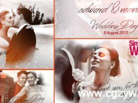 AE模板-简洁的婚礼相册动画 Simple Wedding Slideshow folder