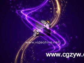 AE模板-粒子流光动画Rotary Logo Reveal
