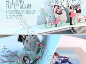 AE模板-婚礼相册动画展示模板Wedding Pop Up Album