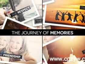 AE模板-旅行记忆相册动画模板The Journey of Memories
