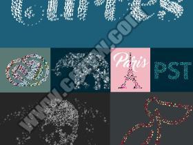 AE插件-众多图片文字图形图层粒子汇聚成自定义图形 Pastiche v2.0 WinMac