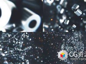 AE模板-三维金属标志粒子汇聚Logo动画 Metalic Particles Logo