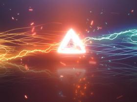 AE模板-动态能量线条碰撞Logo动画 Energy Centre