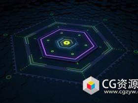 C4D和AE六角形地板动画教程Hexagon Floor Animation Tutorial