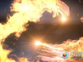 AE模板-火焰爆炸碰撞Logo动画 Fire Dance Logo Reveal