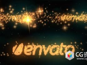 AE模板-闪闪发光星光粒子汇聚文字Logo动画 Logo & Text Intro – Glitters