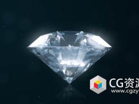 AE模板-企业公司宣传珠宝钻石爆炸logo动画Diamond Logo Reveal