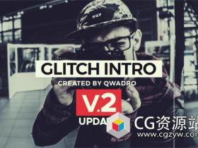 AE模板-现代公司宣传故障毛刺特效片头Modern Glitch Intro