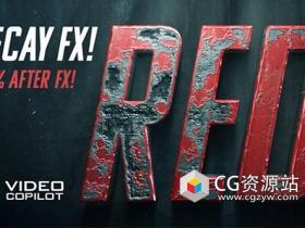 AE制作金属腐蚀铁锈特效3D片头动画教程167期 Advanced Damage & Decay FX After Effects Tutorial