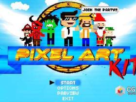 AE模板-8Bit像素扁平化游戏卡通人物角色造型MG动画工具包(更新V1.9版)