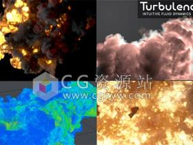 流体模拟C4D插件 TurbulenceFD v1.0.1465 CPU Only Win