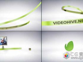 AE模板-3D线条图形路径运动动画片头 Taped Lines Opener