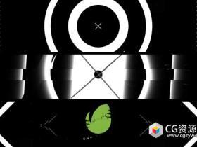 AE模板-时尚现代黑白线圈方形线条mg元素logo动画Black White Intro