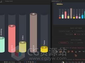三维数据柱状图信息图表增长动画脚本AEscripts AEInfoGraphics 2+视频教程