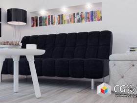 3D客厅家具沙发模型(C4D+C4D VRAY格式)CGAxis Models Volume 78 Furniture VII