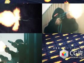 450+开枪火焰枪口闪光烟雾高清图片4K视频素材