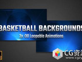 4K分辨率篮球动画背景视频素材 Basketball Backgrounds 4K