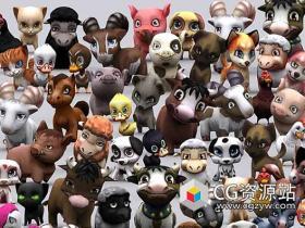 3DRT动物模型包含多种格式模型动画包合集