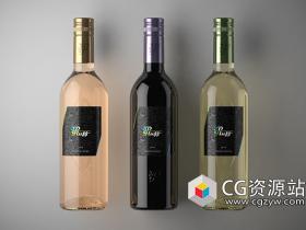Cinema 4D R19制作葡萄酒瓶建模材质渲染教程 3DFluff - Cinema 4D R19 Wine Viz