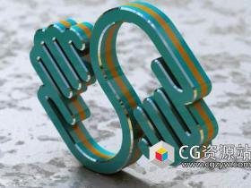 C4D将2DLogo变成3DLogo教程 SkillShare – Turning a 2D Logo Into a 3D Masterpiece