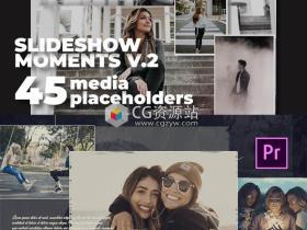 PR模板-两套旅行度假浪漫时刻相册回忆照片视频片头