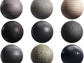 100组8K陶瓷木质石材金属屋顶瓦片PBR纹理贴图第22卷