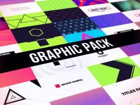 AE模板-创意图形包文字标题排版背景动画 Creative Graphic Pack