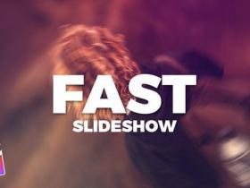 FCPX插件-独特时尚快速节奏感图片展示片头Fast Clean Slideshow