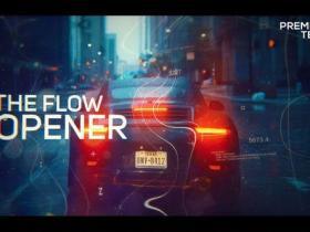 PR模板-科技感线条视差幻灯片开车片头 Digital Flow Modern Opener