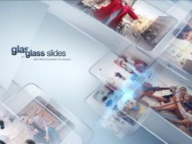AE模板-明亮玻璃透明照片幻灯片视频片头 Modern Glass Slide