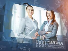 AE模板-企业历史发展历程时间线介绍宣传片头