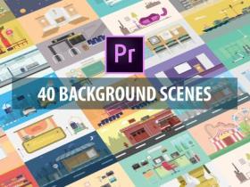 PR模板+预设-40组扁平化概念设计企业解说图标信息图表场景图形MG动画