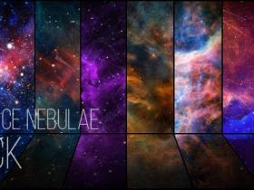8种太空星云包宇宙飞行星系太空星云特效动态背景视频素材