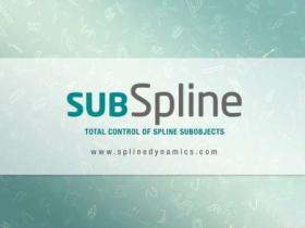 3DS MAX样条线编辑控制插件 SubSpline v1.11 for 3ds Max 2012-2020