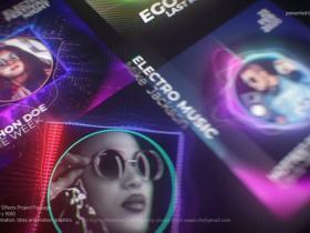 AE模板-抖音短视频DJ音乐音频可视化工具包