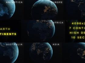 7组4K地球旋转夜景灯光城市图动画背景视频素材