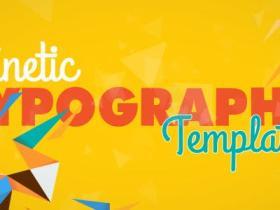 AE模板-动感时尚MG图形文字排版logo动画 Kinetic Typography