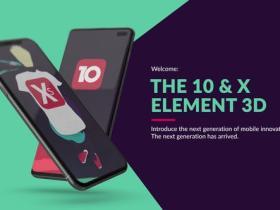 E3D模板-时尚应用程序设计iPhone手机APP宣传动画