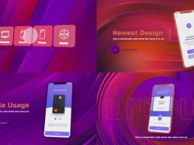AE模板-14个场景iPhone手机APP宣传展示动画