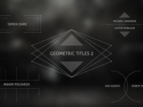 AE模板-干净优雅几何线条文字标题动画