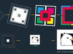 AE模板-多彩艺术图形Logo动画 Art Logo