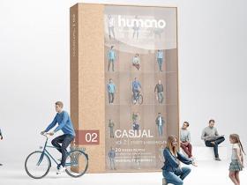 20组日常人物休闲生活行为姿势3D模型第二季