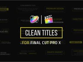 FCPX插件-20个简洁文字标题排版字幕动画
