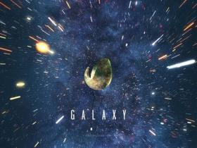 AE模板-科幻闪亮空间宇宙银河太空星辰Logo动画